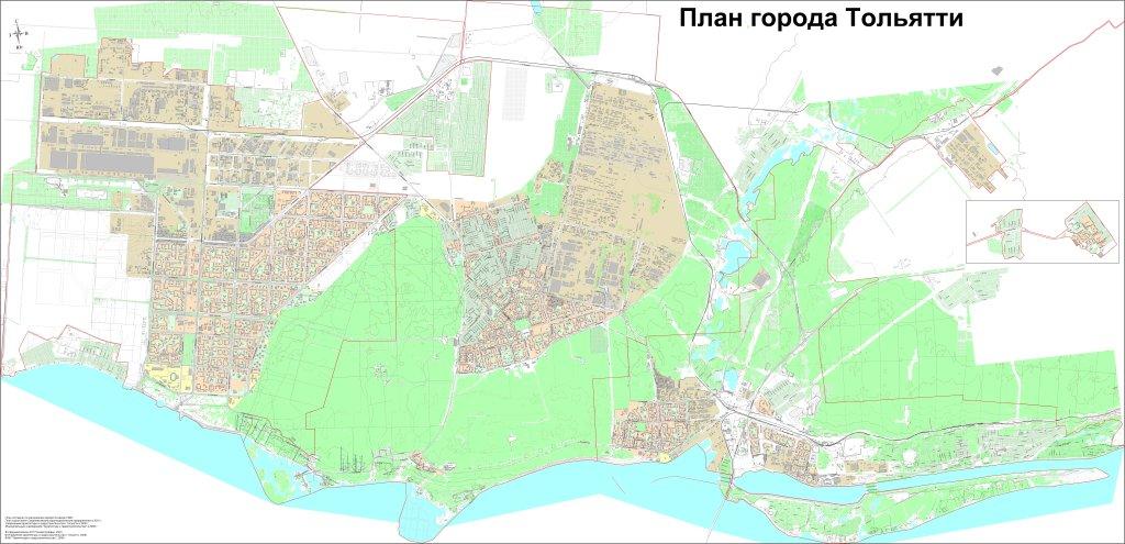Карта схема тольятти - Карта